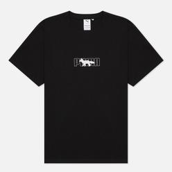 Мужская футболка Puma x Maison Kitsune Logo Oversized Black