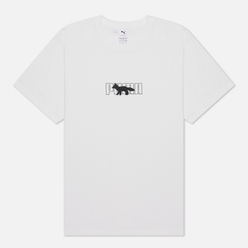 Мужская футболка Puma x Maison Kitsune Logo Oversized White
