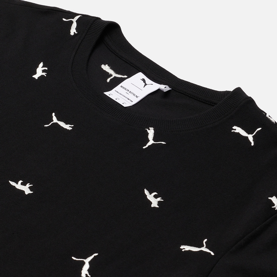 Мужская футболка Puma x Maison Kitsune Logo All Over Print Black