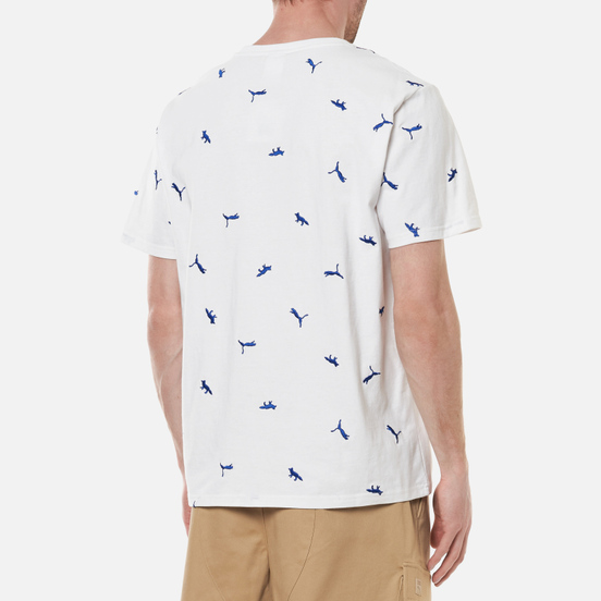 Мужская футболка Puma x Maison Kitsune Logo All Over Print White