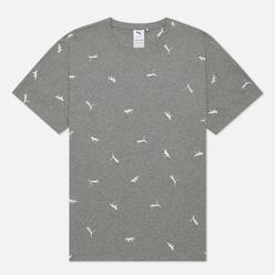 Мужская футболка Puma x Maison Kitsune Logo All Over Print Medium Gray Heather