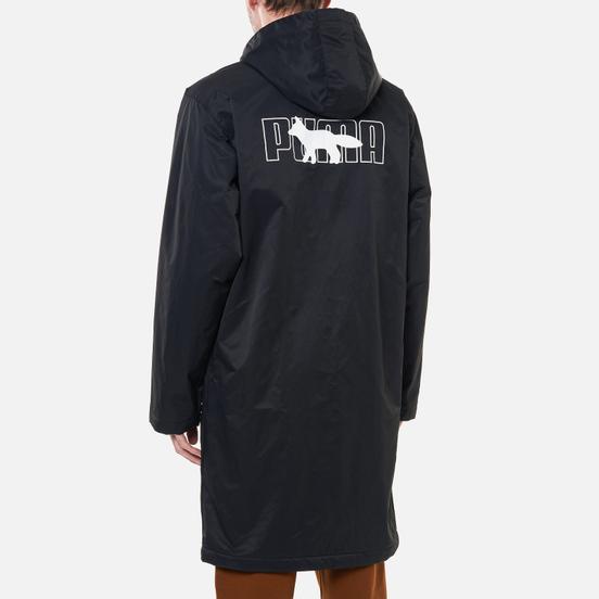 Мужской плащ Puma x Maison Kitsune Logo Long Hooded Black