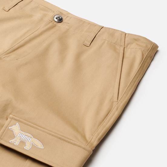 Мужские брюки Puma x Maison Kitsune Logo Cargo Travertine