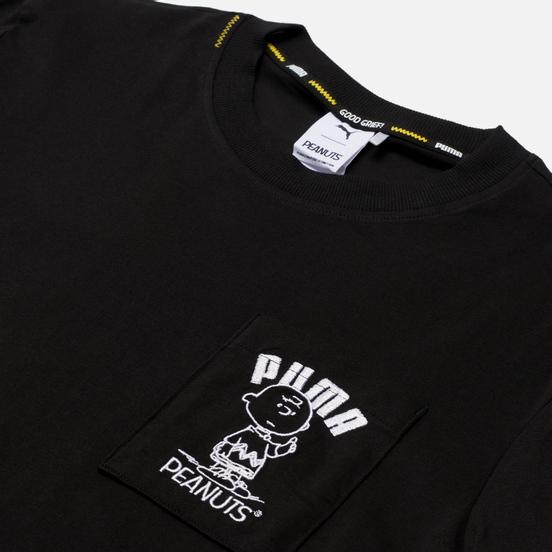 Мужской лонгслив Puma x Peanuts LS Archive Logo Black