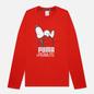Мужской лонгслив Puma x Peanuts LS Archive Logo High Risk Red фото - 0