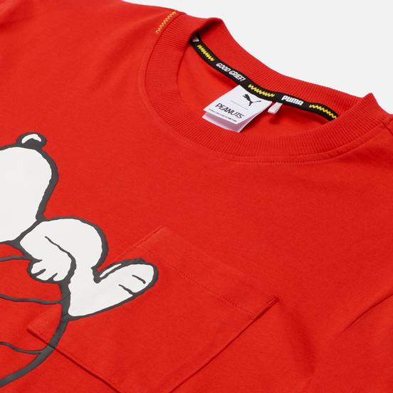 Мужской лонгслив Puma x Peanuts LS Archive Logo High Risk Red