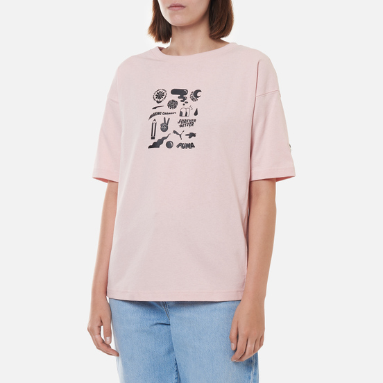 Женская футболка Puma Downtown Graphic Lotus