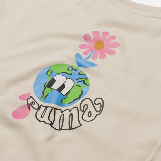 Женская футболка Puma Downtown Graphic Ivory Glow
