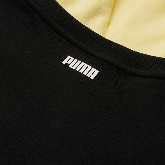 Мужская толстовка Puma Combine Hoodie Black/High Risk Red