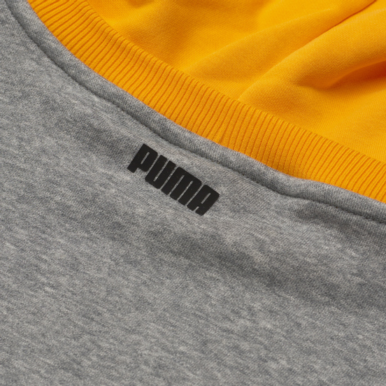 Мужская толстовка Puma Combine Hoodie Medium Gray Heather/Amazon Green