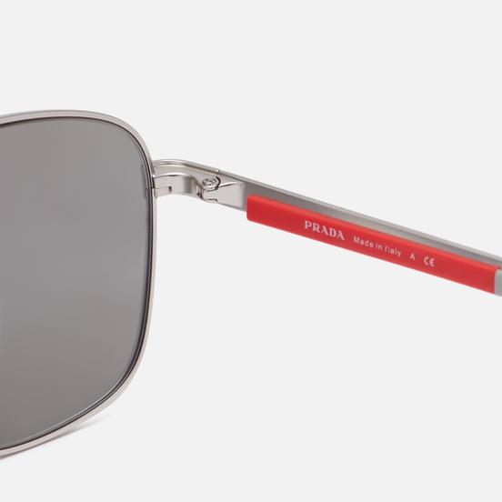 Солнцезащитные очки Prada Linea Rossa 53XS-1AP04L-3N Matte Silver/Light Grey Mirror Silver