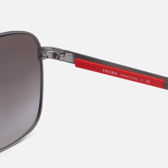 Солнцезащитные очки Prada Linea Rossa 53XS-7CQ02M-2N Matte Gunmetal/Gradient Grey Mirror Silver