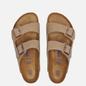 Мужские сандалии Birkenstock Arizona Nubuck Tabacco Brown фото - 1