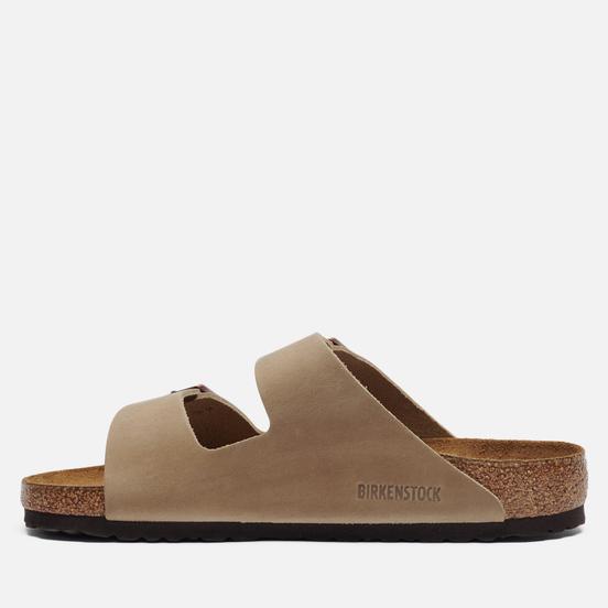 Мужские сандалии Birkenstock Arizona Nubuck Tabacco Brown