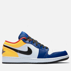 Мужские кроссовки Jordan Air Jordan 1 Low White/Track Red/Deep Royal Blue