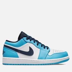 Подростковые кроссовки Jordan Air Jordan 1 Low GS UNC White/Dk Powder Blue/Obsidian