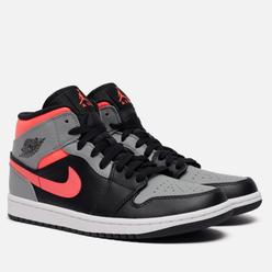 Мужские кроссовки Jordan Air Jordan 1 Mid Pink Shadow Black/Hot Punch/White/Particle Grey