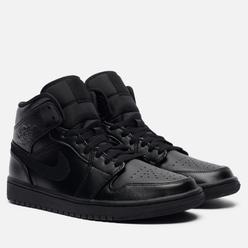 Мужские кроссовки Jordan Air Jordan 1 Mid Black/Black/Black