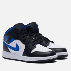 Подростковые кроссовки Jordan Air Jordan 1 Mid GS White/Racer Blue/Black