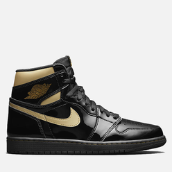 Мужские кроссовки Jordan Air Jordan 1 Retro High OG Black/Metallic Gold/Black