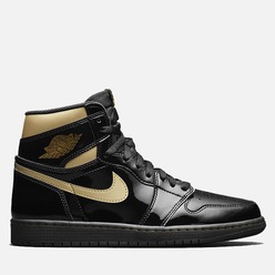 Кроссовки Jordan Air Jordan 1 Retro High OG Black/Metallic Gold/Black