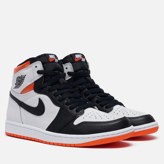 Мужские кроссовки Jordan Air Jordan 1 Retro High OG White/Black/Electro Orange