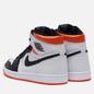 Мужские кроссовки Jordan Air Jordan 1 Retro High OG White/Black/Electro Orange фото - 2