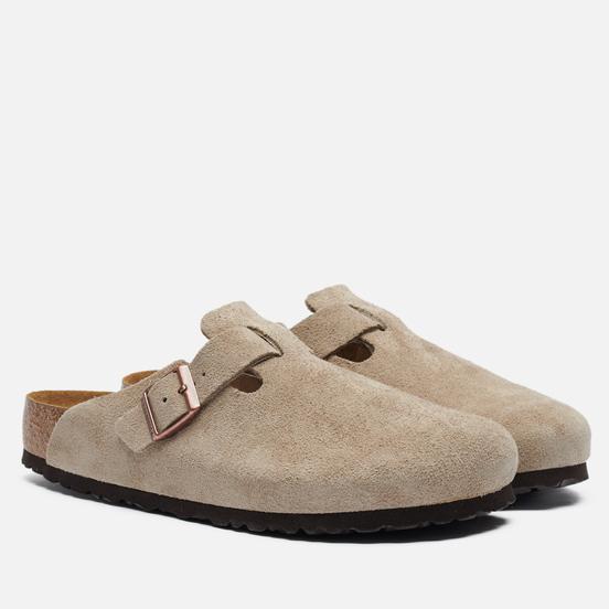 Мужские сандалии Birkenstock Boston Suede Taupe