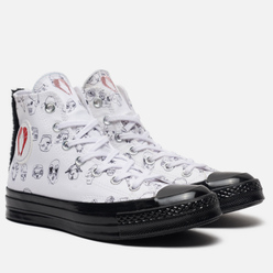 Женские кеды Converse x Shrimps Chuck 70 High White/Black/Black