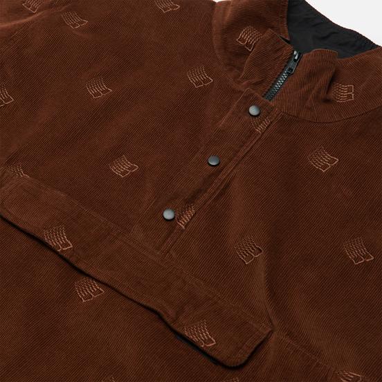 Мужская куртка анорак Bronze 56K All Over Embroidered Brown