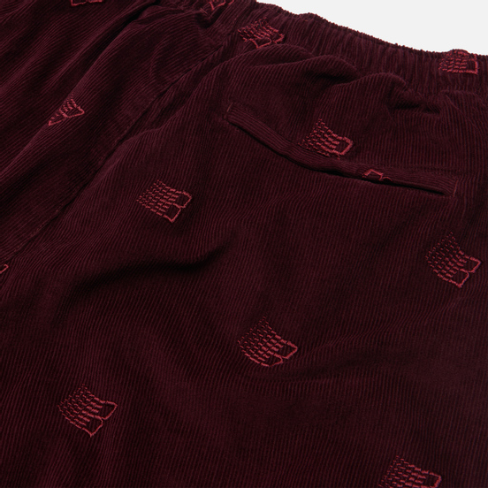Мужские брюки Bronze 56K All Over Embroidered Maroon