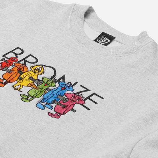 Мужская толстовка Bronze 56K Bolt Boys Embroidered Crew Neck Ash Grey
