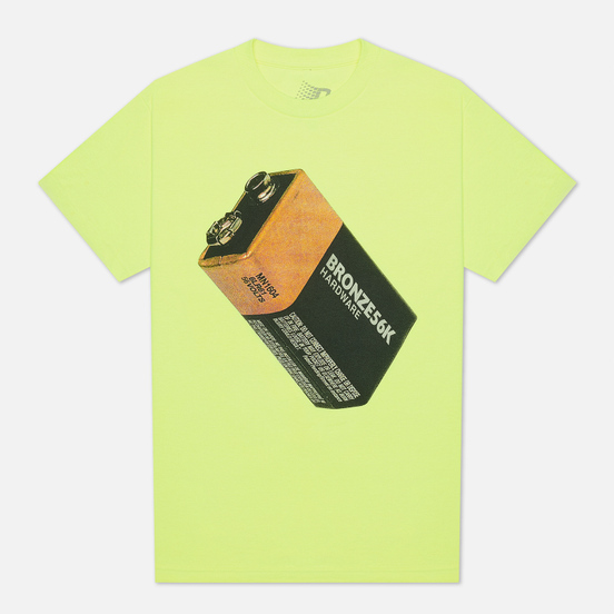 Мужская футболка Bronze 56K Battery Safety Green
