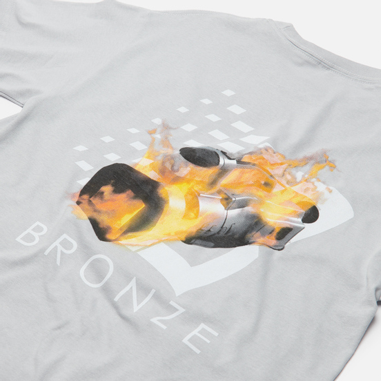 Мужская футболка Bronze 56K VX B Logo Silver