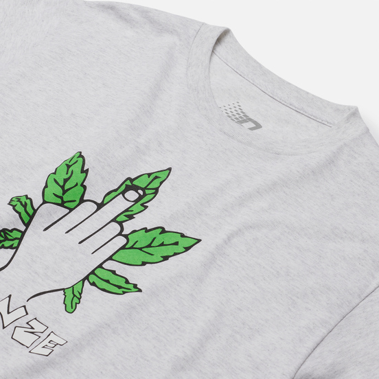 Мужская футболка Bronze 56K Weed Finger Ash Grey