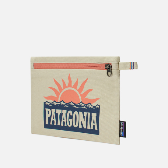 Косметичка Patagonia P-6 Fitz Roy Zippered Stop The Rise Bleached Stone