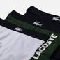 Комплект мужских трусов Lacoste Underwear 3-Pack Trunk Thyme/Navy Blue/White фото - 1