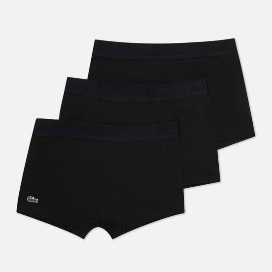 Комплект мужских трусов Lacoste Underwear 3-Pack Trunk Black/Black/Black