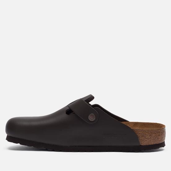 Мужские сандалии Birkenstock Boston Leather Dark Brown