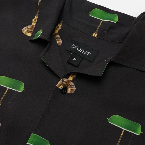 Мужская рубашка Bronze 56K Bankers Lamp Rayon Black