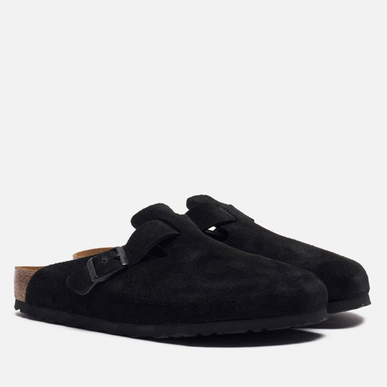 Мужские сандалии Birkenstock Boston Suede Black