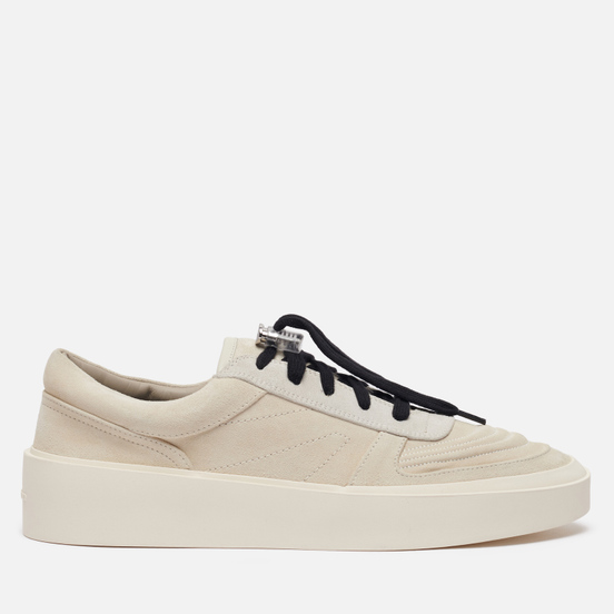 Мужские кроссовки Fear of God Skate Low Leather/Suede White/Grey