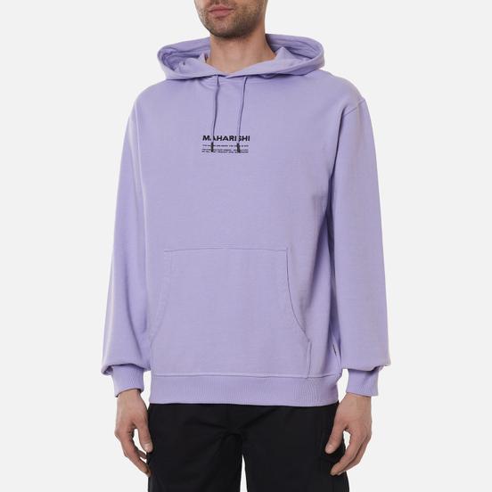 Мужская толстовка maharishi Organic Hooded Military Type Embroidery Lavender