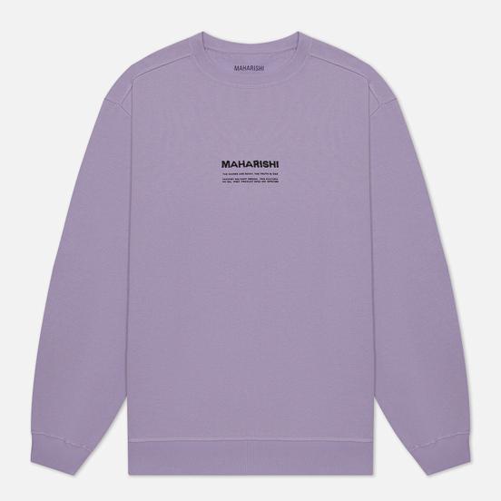 Мужская толстовка maharishi Organic Crew Military Type Embroidery Lavender