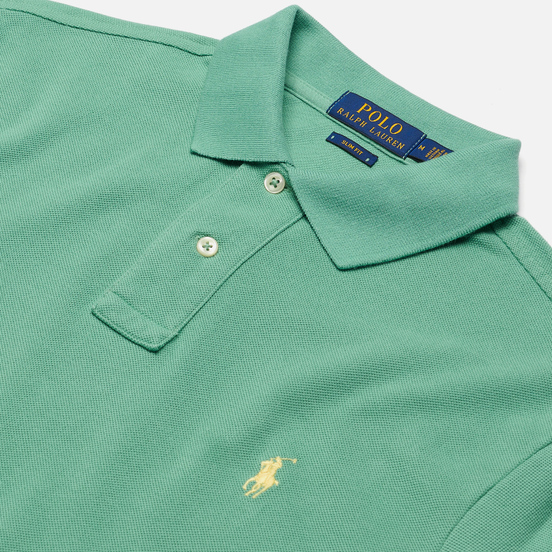 Мужское поло Polo Ralph Lauren The Iconic Basic Mesh Slim Fit Haven Green/Yellow