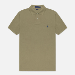 Мужское поло Polo Ralph Lauren The Iconic Basic Mesh Slim Fit Sage Green/Navy