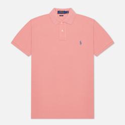Мужское поло Polo Ralph Lauren The Iconic Basic Mesh Slim Fit Desert Rose/Blue