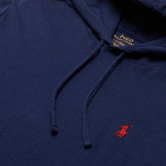 Мужской лонгслив Polo Ralph Lauren Embroidered Pony Hoodie Newport Navy