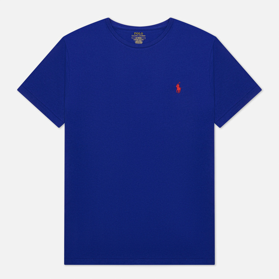 Мужская футболка Polo Ralph Lauren Classic Crew Neck 26/1 Jersey Heritage Royal/Red