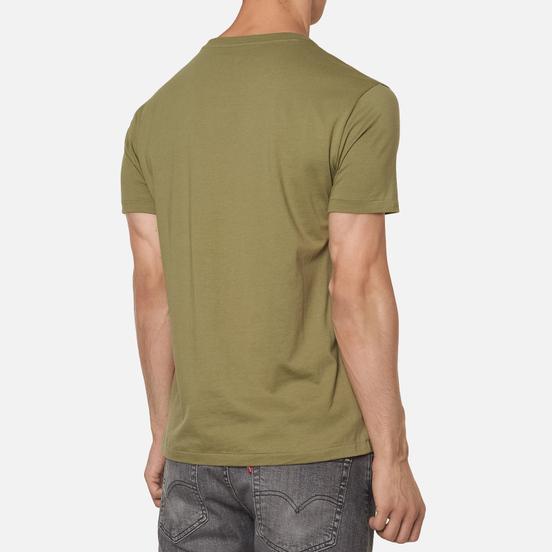 Мужская футболка Polo Ralph Lauren Classic Crew Neck 26/1 Jersey Sage Green/Navy